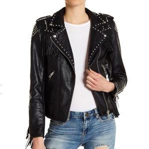 BlankNYC studded fringe jacket